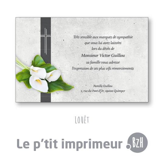 Carte De Remerciements Suite Un Dcs Avec Fleurs