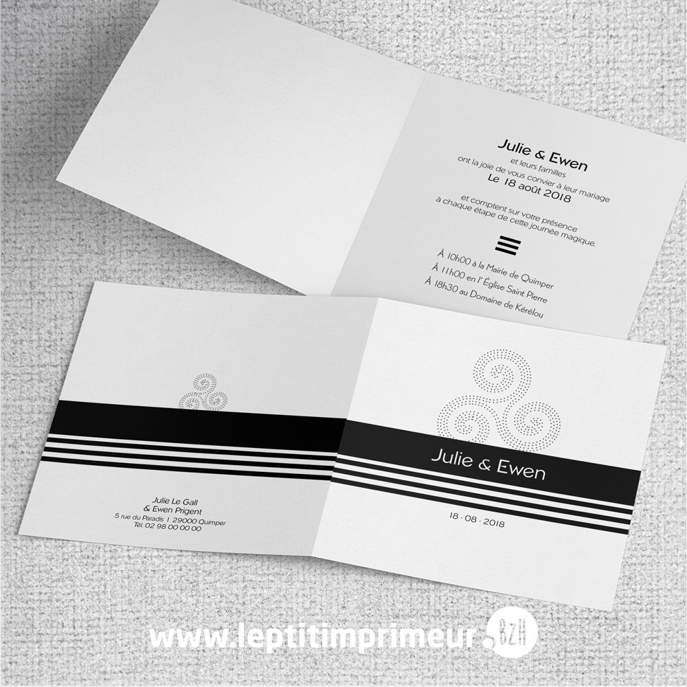 Nouvel Un faire-part de mariage made in BZH   Le p'tit imprimeur.bzh CS-42