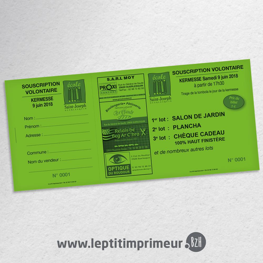 Ticket De Tombola Eco