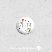 Badge invité à épingler Fleuri