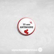 Badge invité à épingler Rouge