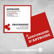 Invitations Carré Rouge