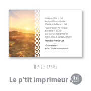 Carte de remerciements Iles Des Landes - Format  128 x 82 mm | Le p'tit imprimeur.bzh