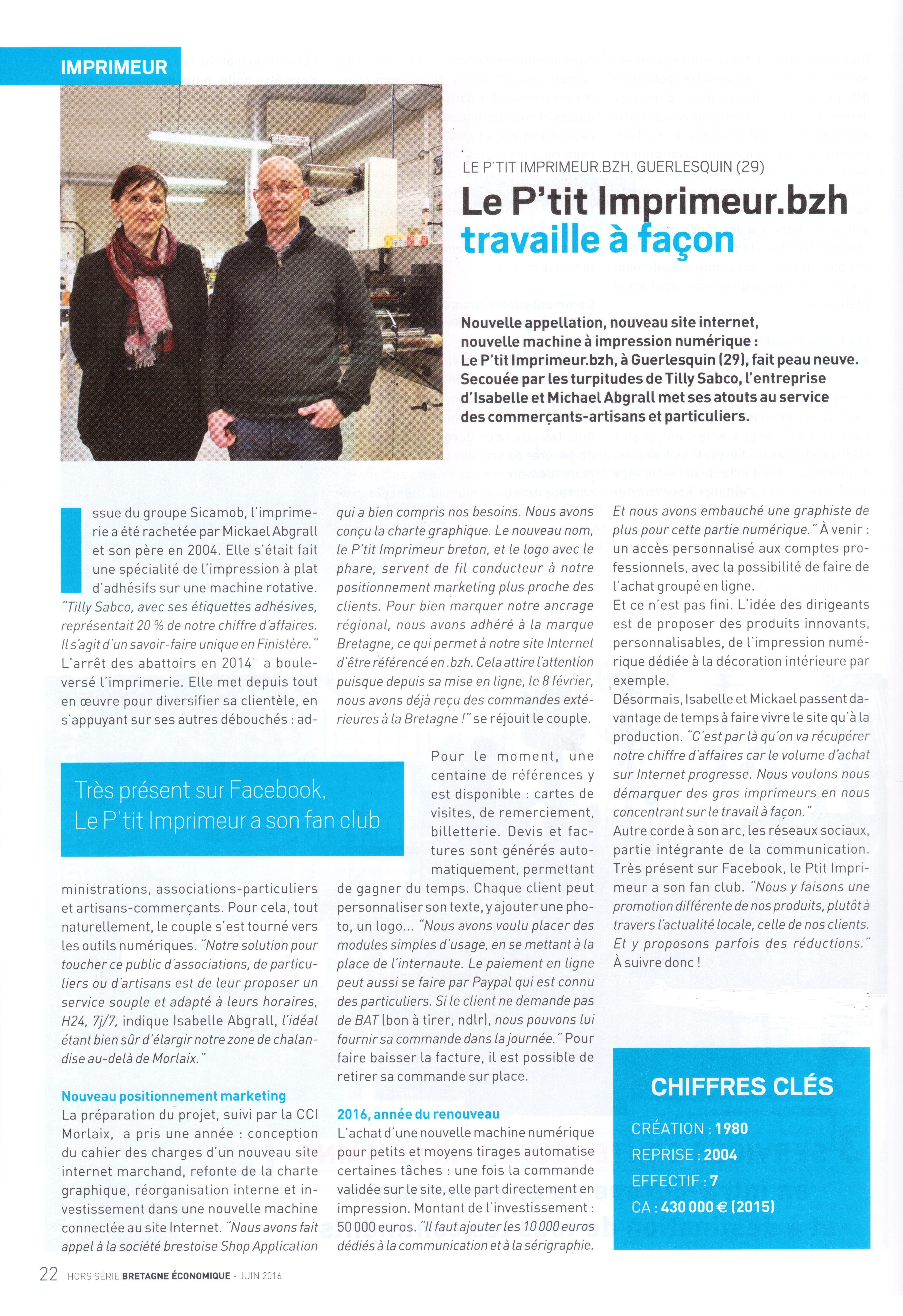 Bretagne Economique _ Juin 2016