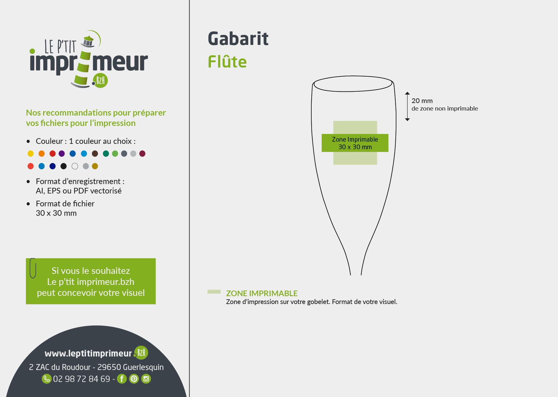 Gabarit flute à champagne personnalisée