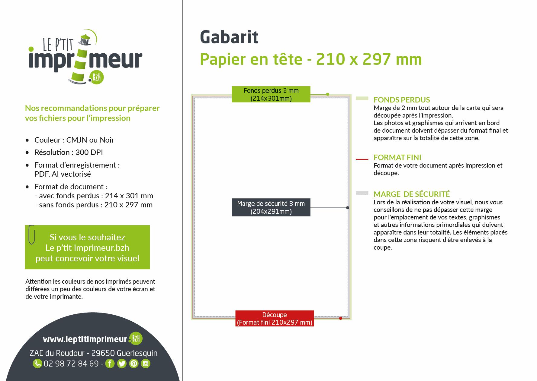 Gabarit Facture Recto / verso