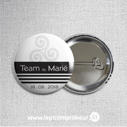 Badge mariage - Team du marié - Gwen ha du