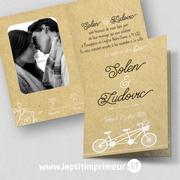 Faire part mariage - Tandem