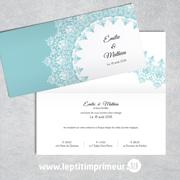 Faire-part mariage - Bleu romantique | Le p'tit imprimeur.bzh