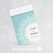 Marque-place Simple - Bleu Romantique | Le p'tit imprimeur.bzh