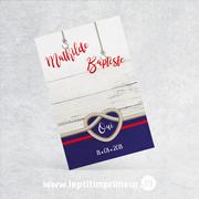 Marque-place simple - Noeud marin | Le p'tit imprimeur.bzh