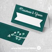 Marque-place chevalet mariage oiseaux - Vert