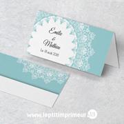 Marque-place chevalet - Bleu Romantique | Le p'tit imprimeur.bzh