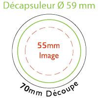 Gabarit décapsuleur 59 mm de diamètre