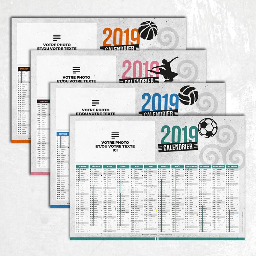 Calendrier A Faire.Calendrier Sous Mains 2019 Format A3 Sport Et Loisir